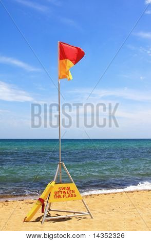 Australian beach safety flag - swim between the flags.