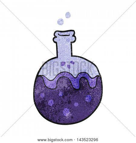 freehand textured cartoon magic potion