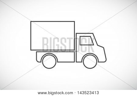 car truck van outline icon
