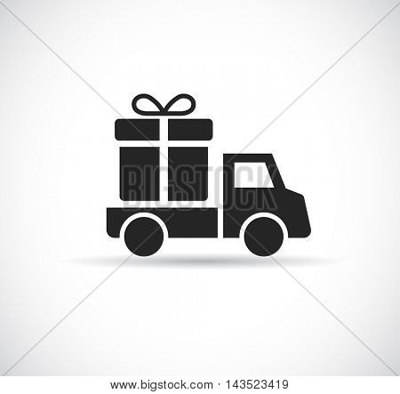 car delivery gift web icon
