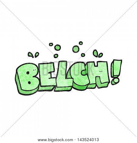 freehand textured cartoon belch text