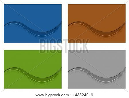 wave design - abstract background