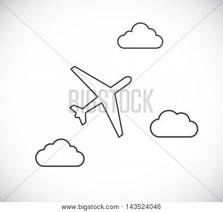 plane and clouds black abstract background
