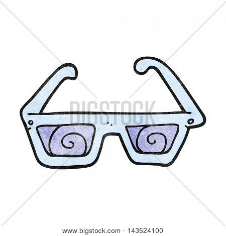 freehand textured cartoon 3D glasses