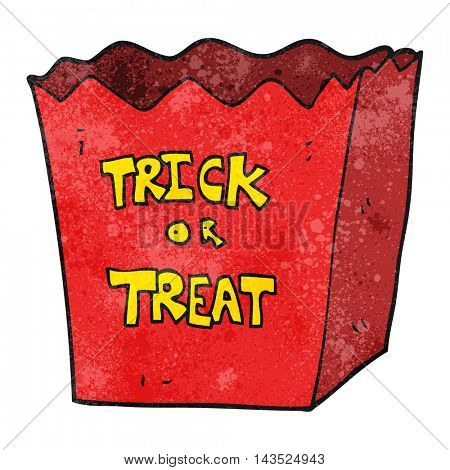 freehand textured cartoon trick or treat bag