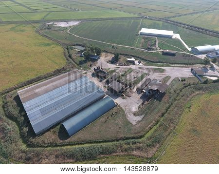 Hangar Of Galvanized Metal Sheets For Storage Of Agricultural Products