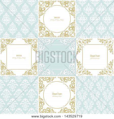 Luxury templates for wedding or scrapbook design.