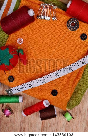 Background Vertical With Sewing Items