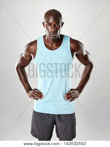 Fit And Confident Young Muscular African Man