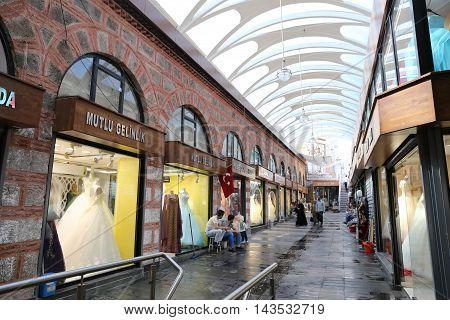 Gelinlikciler Bazaar In Kapalicarsi In Bursa City, Turkey
