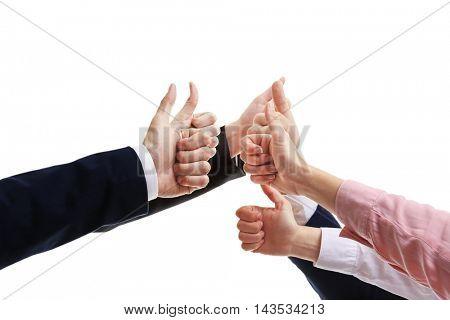 Business people hands. Teamwork concept