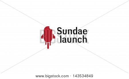 Sundae Launch Logo Creative And Symbolic Design Illustration