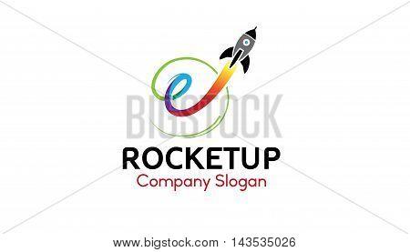 Rocket Up Logo Creative And Symbolic Design Illustration