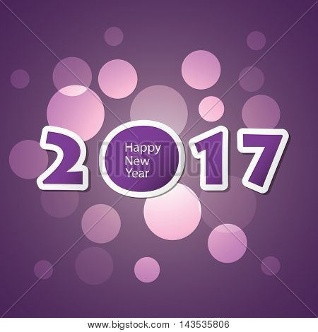 Best Wishes - Abstract Modern Style Happy New Year Greeting Card or Background, Creative Design Template - 2017
