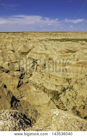 Badlands National Park in South Dakota portrait