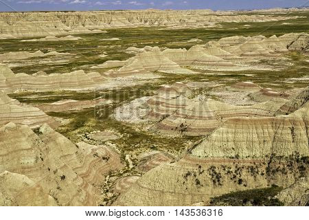 Badlands National Park South Dakota painted hills