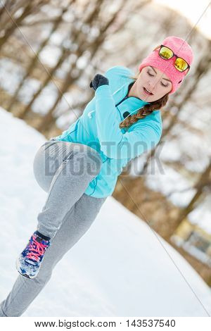 Girl Staying Fit During Winter
