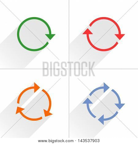 Color Arrow Loop, Refresh, Reload, Rotation Sign