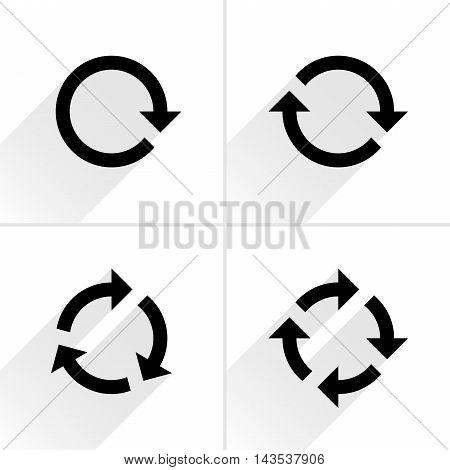 Black Arrow Loop, Refresh, Reload, Rotation Icon