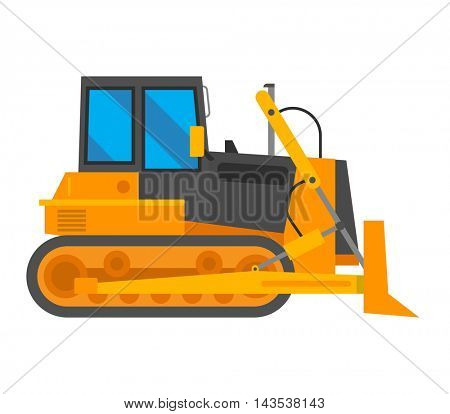 Vector excavator illustration isolated