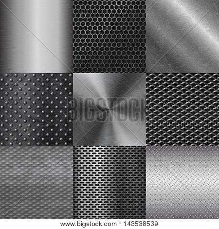 Metal texture pattern vector illustration.