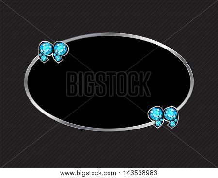 Aquamarine Stone Quotes on Silver Metal Speech Bubble over Pinstripe Background