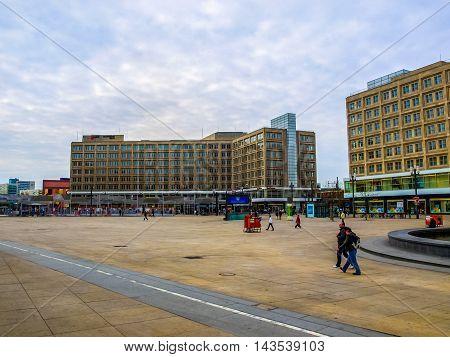 People In Alexander Platz (hdr)