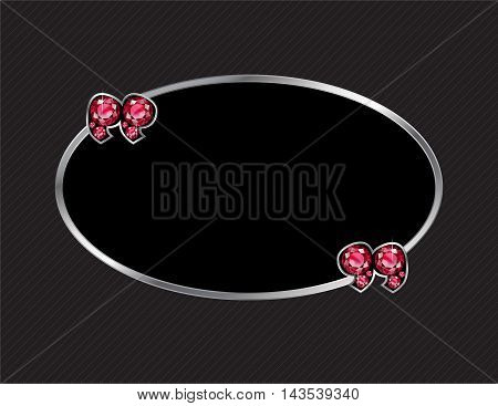 Ruby Stone Quotes on Silver Metal Speech Bubble over Pinstripe Background