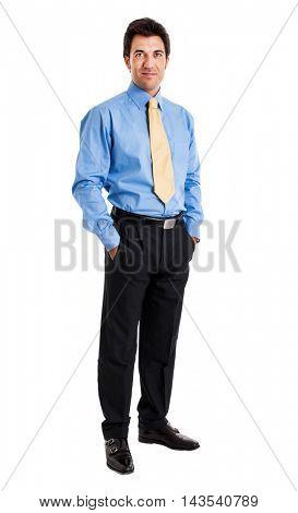 Mature handsome businessman full length portrait