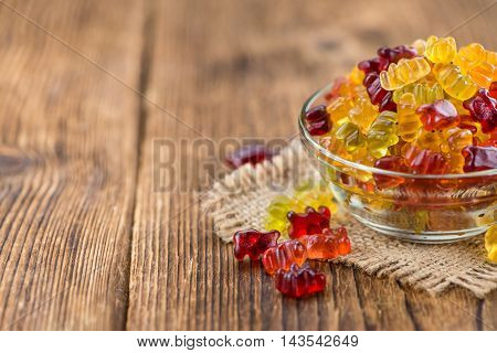 Gummy Bears (close-up Shot)