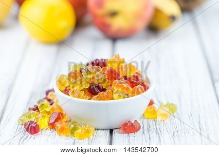 Bowl With Gummy Candy (selective Focus)