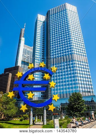 European Central Bank, Frankfurt (hdr)
