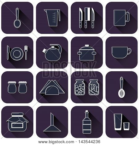Set Of Different Kitchenware