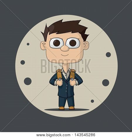 Boy In A Jacket And Briefcase