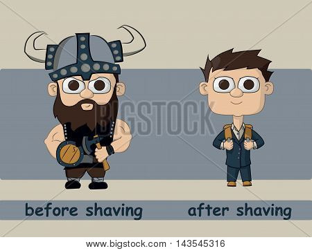 A Man To Shave And After Shaving