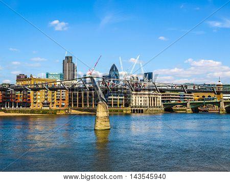 Millennium Bridge In London Uk (hdr)