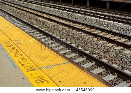 Railroad Station Railroad Tracks Cargo Platform Trains