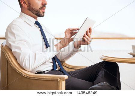 Sales Representative Using A Tablet Computer