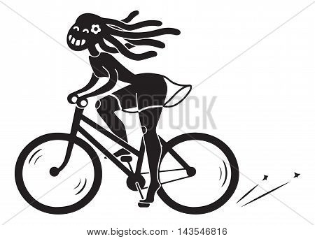 bike, women, girl, cyclist, fun,  travel, ride, urban,  African, , dress, cycle, lady