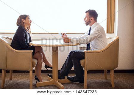 Businesswoman During A Job Interview
