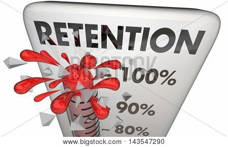 Retention Hold Onto Keep Customers Employees Thermometer 3d Illustration