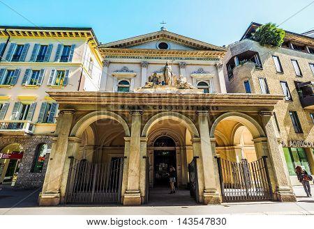 Santa Maria Della Consolazione Church In Milan (hdr)