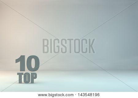 top 10 on background,3d illustration