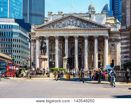 Royal Stock Exchange In London (hdr)