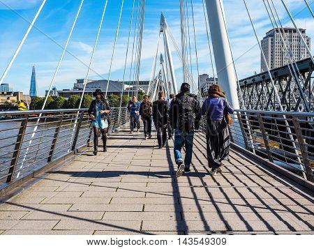 Jubilee Bridge In London (hdr)