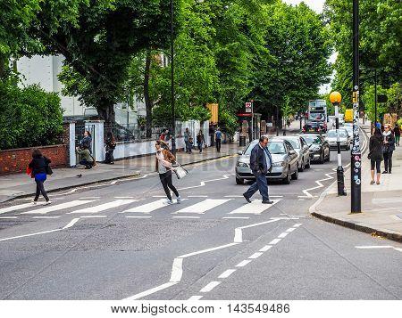 Abbey Road Crossing In London (hdr)