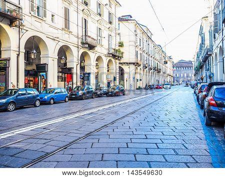 Via Po Turin (hdr)