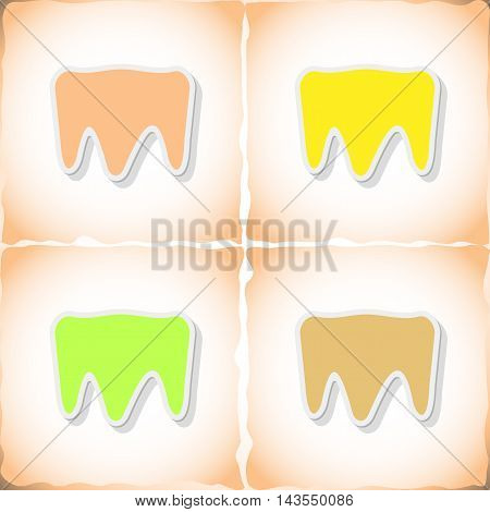 Tooth. Abstract image Medicine object. Vector illustration.
