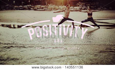 Positivity Attitude Choice Inspire Mindset Thinking Concept