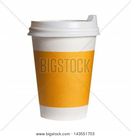 Paper Cup Of Coffee On A White Background